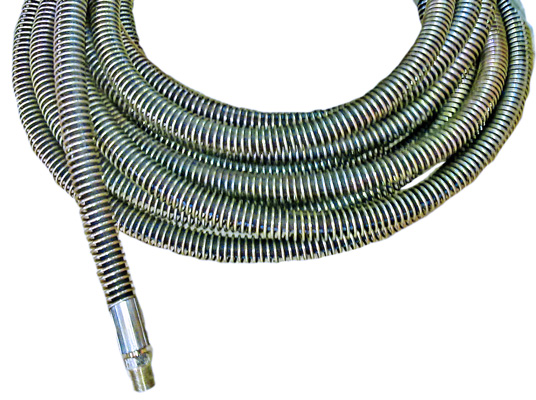 Steel Braided Hose With Spring Guard Creativemist