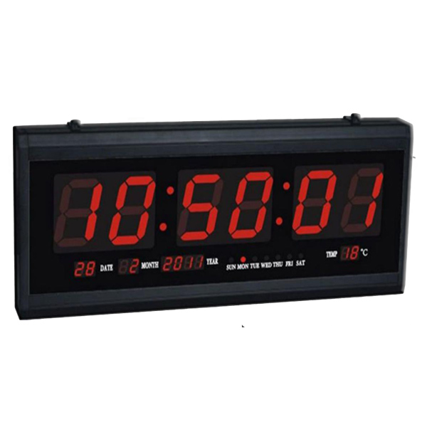 Led digital wall clock creativemist Digital led wall clock